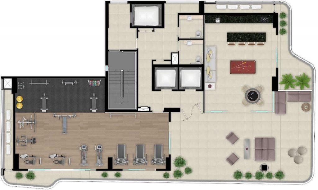 Apartamento na Planta no Meireles Fortaleza
